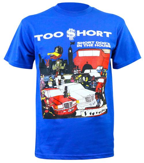 Too Short Men's Short Dog Slim-Fit Blue T-Shirt