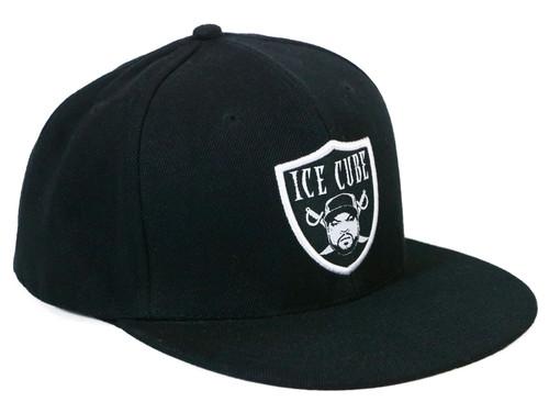 Ice Cube Raider Logo Snapback Fit Hat Black