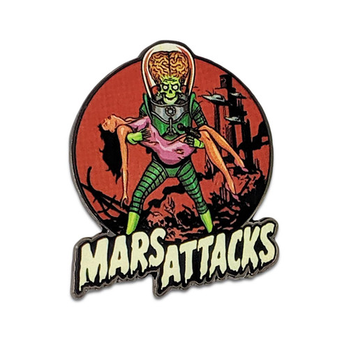 Retro A Go Go Mars Attacks Victim Enamel Pin