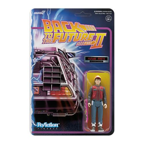 "Super7 Back to the Future 2 Future Marty ReAction Figure 3.75"""