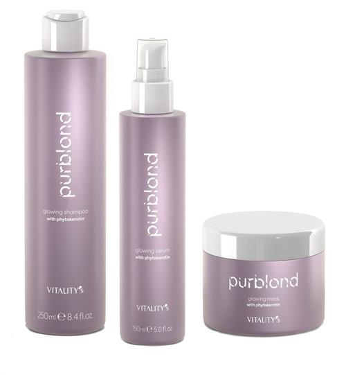 Vitality's Purblond Brassy Tone Neutralizer Hair Care Kit