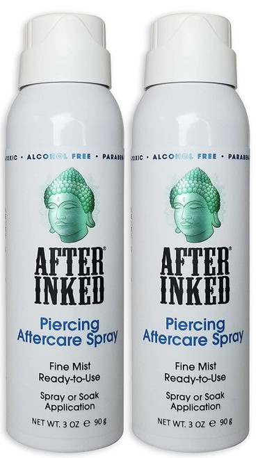 After Inked Piercing Aftercare Spray 3 Oz. Pack of 2