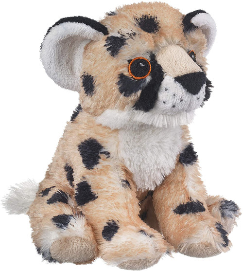 """Eco Pals Cheetah Cub 8"""" by Wildlife Artists Eco-Friendly Stuffed Animal Plush Toy, Made from 100% Post-Consumer and Recycled Materials"""