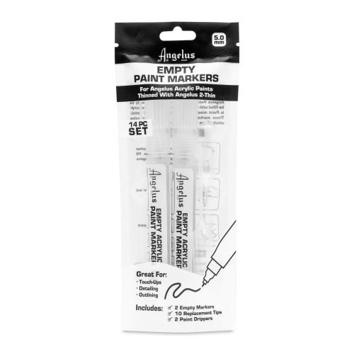 Angelus Empty Paint Marker Set 5mm Clear