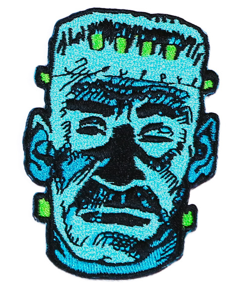 """Topstone Horror Frankie Monster Retro Horror Halloween Embroidered Patch 3"""" x 3.5"""""""