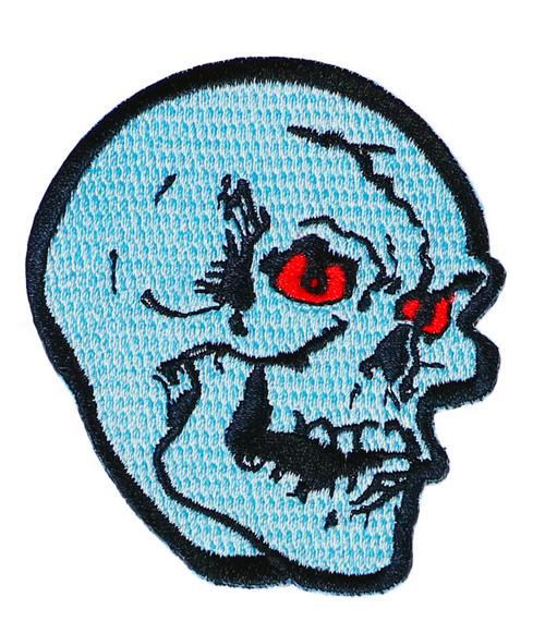 "Topstone Horror Skull Retro Horror Halloween Embroidered Patch 3"" x 3.5"""