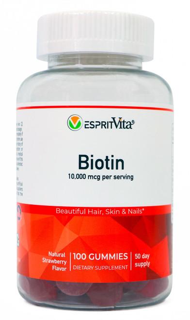 Esprit Vita 10,000mcg Biotin Gummies 100ct