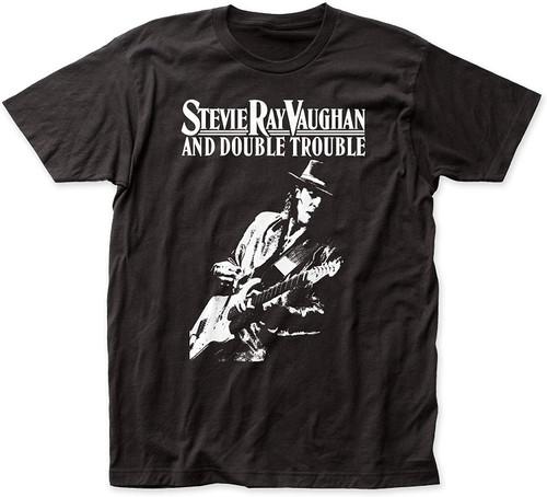 Stevie Ray Vaughan Live Alive Slim-Fit Black T-Shirt