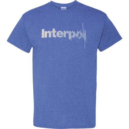 Interpol Disruption Logo T-Shirt S-2XL Blue