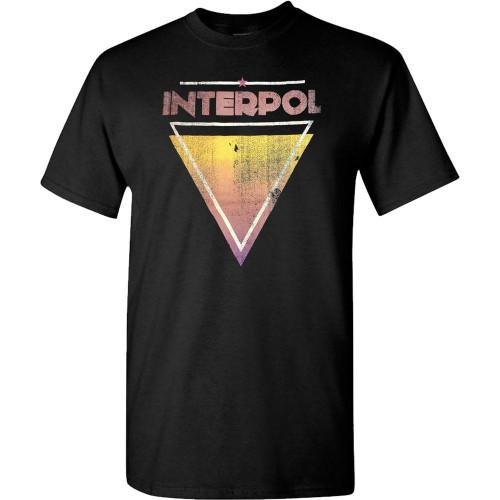 Interpol Triangle Black T-Shirt