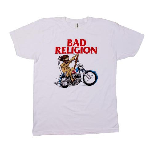 Bad Religion Men's American Jesus T-Shirt White