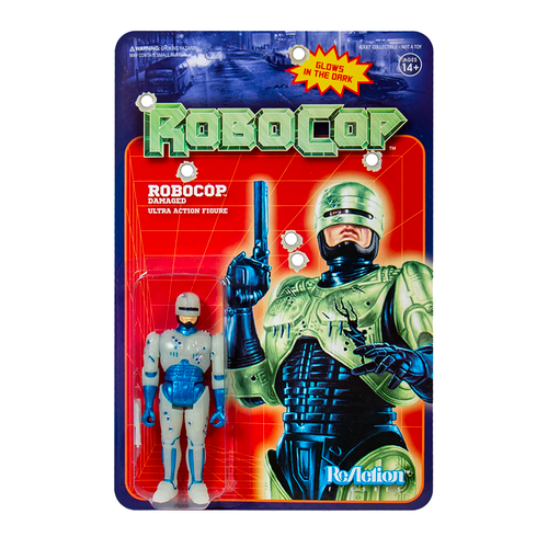 Super7 Robocop ReAction Robocop Battle Damaged Glow in the Dark Action Figure