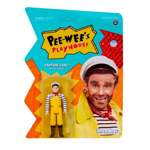 "Super7 Pee-wee's Playhouse Captain Carl ReAction Figure 3.75"""