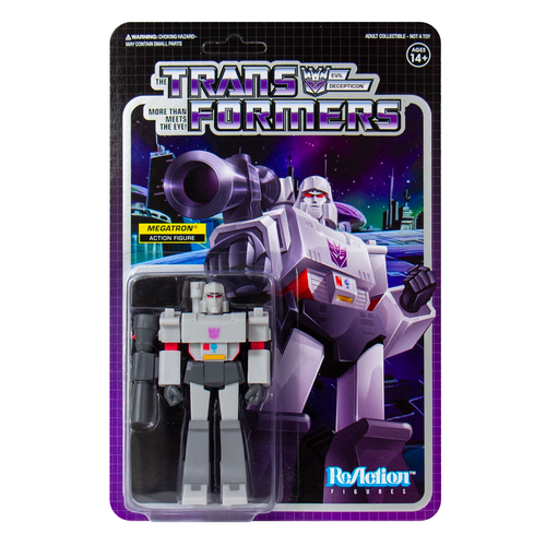 Super7 Transformers ReAction Megatron Figure 3.75""