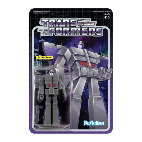 "Super7 Transformers ReAction Astrotrain Figure 3.75"""