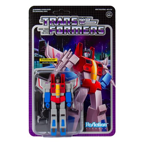 "Super7 Transformers ReAction Starscream Figure 3.75"""