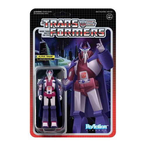 Super7 Transformers ReAction Alpha Trion Figure 3.75""