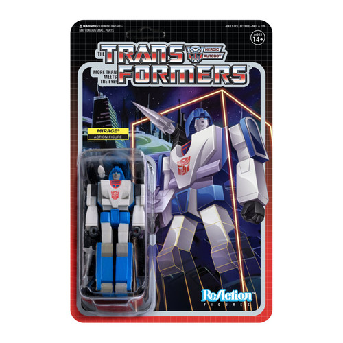 Super7 Transformers ReAction Mirage Figure 3.75""