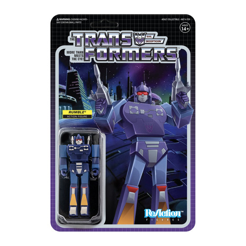 Super7 Transformers ReAction Rumble Figure 3.75""