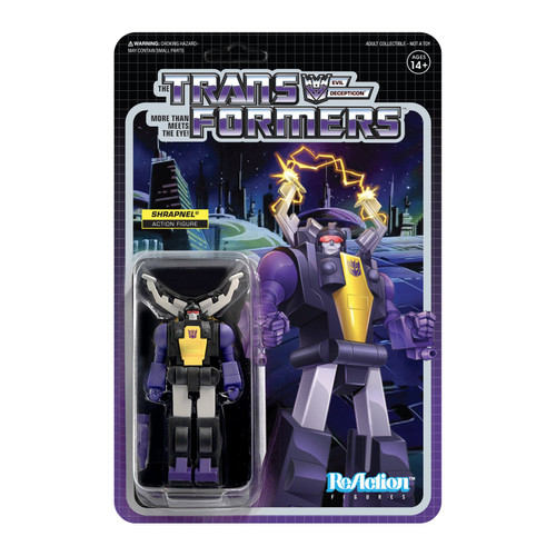Super7 Transformers ReAction Shrapnel Figure 3.75""