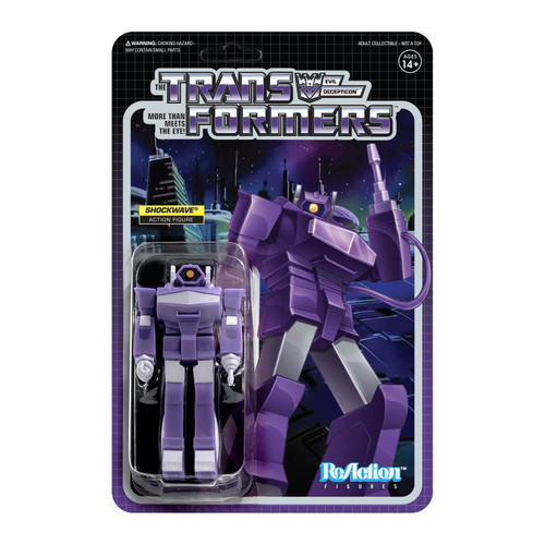 Super7 Transformers ReAction Shockwave Figure 3.75""