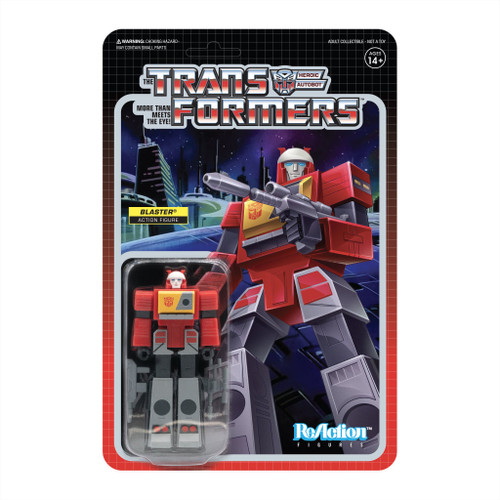 Super7 Transformers ReAction Blaster Figure 3.75""