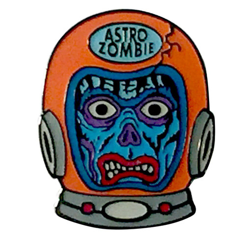 Retro A Go Go Astro Zombie Enamel Pin