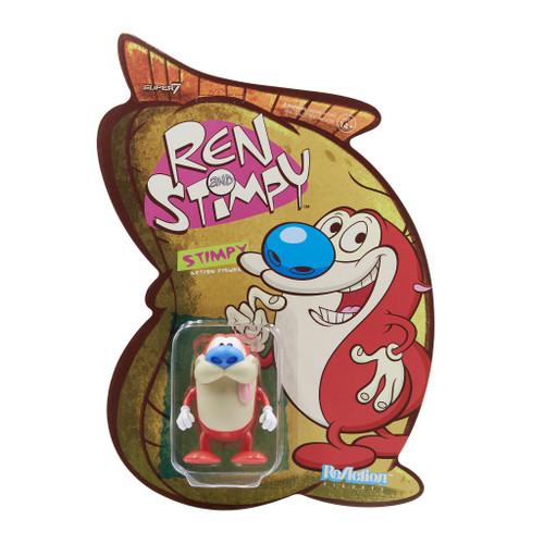 "Super7 Ren and Stimpy   Stimpy ReAction Figure 3.75"""