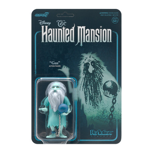 "Super7 Disney Haunted Mansion Gus Prisoner Ghost ReAction Figure 3.75"""