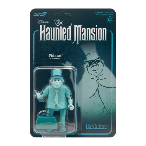 """Super7 Disney Haunted Mansion Phineas Traveling Ghost ReAction Figure 3.75"""""""