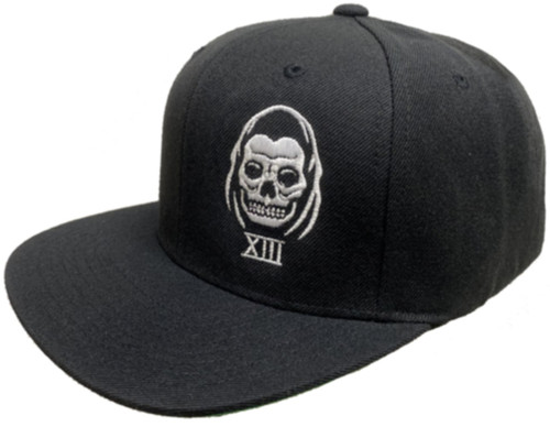 Lucky 13 The Speed Reaper Flat Bill Trucker Hat Black