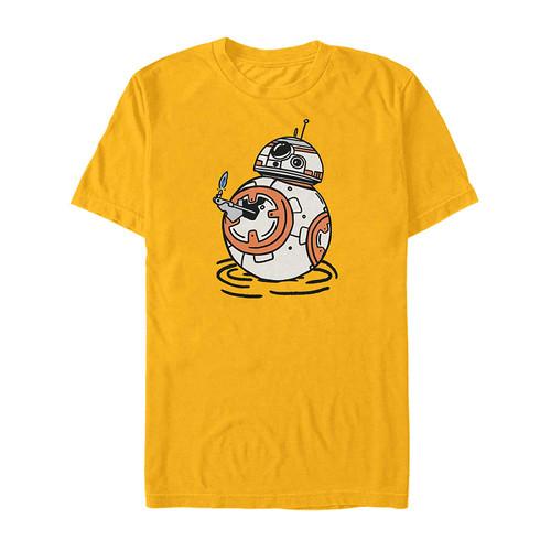 Star Wars BB-8 Doodles T-Shirt Yellow