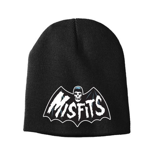 Misfits Logo Embroidered Knit Beanie Black, fiend