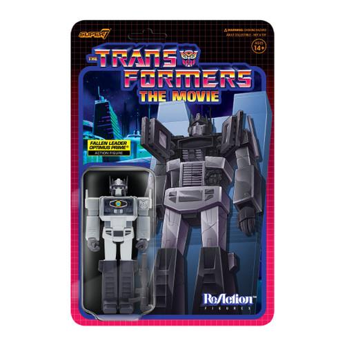 "Super7 Transformers ReAction Optimus Prime Fallen Leader Figure 3.75"""