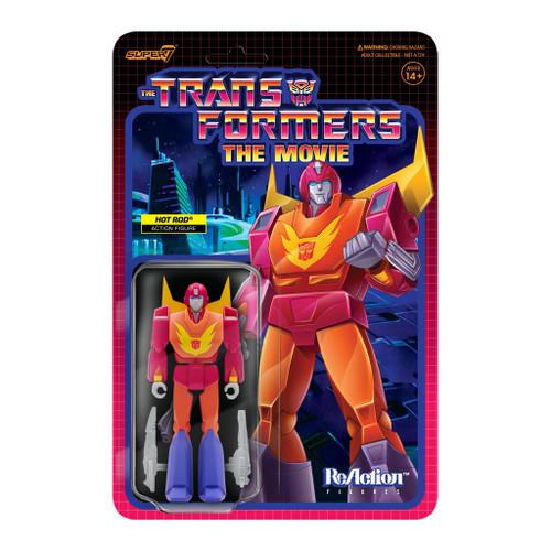 "Super7 Transformers ReAction Hot Rod Figure 3.75"""