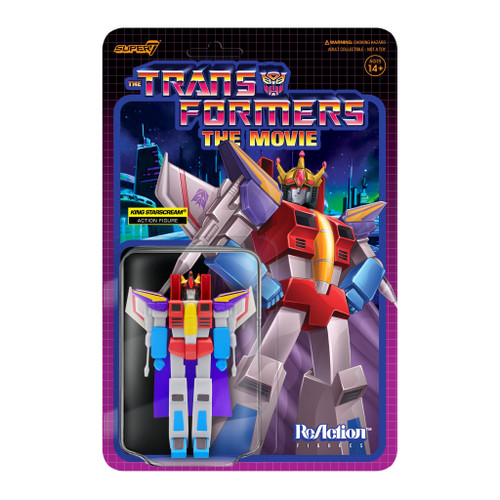 "Super7 Transformers ReAction King Starscream Figure 3.75"""