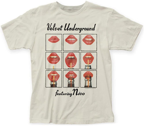 Velvet Underground Men's Featuring Nico T-Shirt Natural