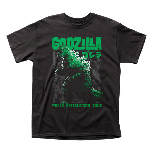 Godzilla Men's World Destruction Tour T-Shirt Black
