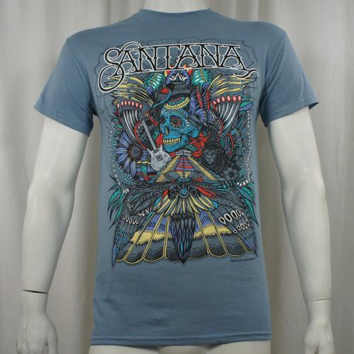 Santana T-Shirt - Folk Skull