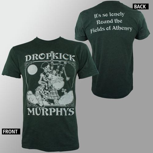 Dropkick Murphys T-Shirt - Vintage Skeleton Piper