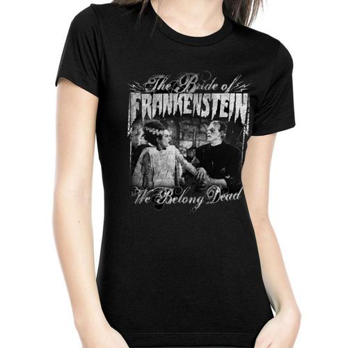 The Bride Of Frankenstein T-Shirt Girls - We Belong Dead