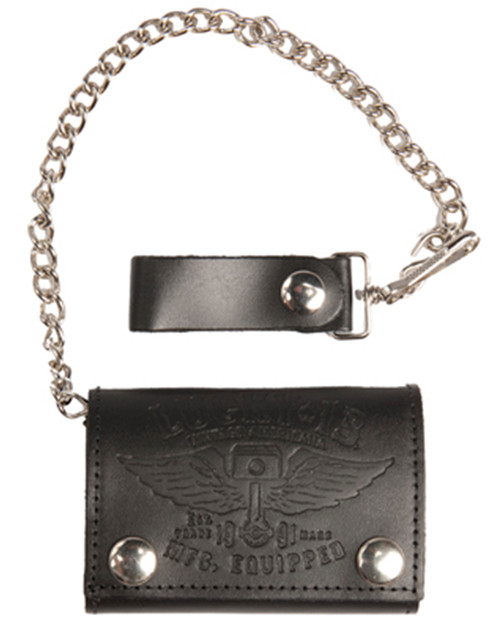 Lucky 13 Trifold Wallet - Winged Piston