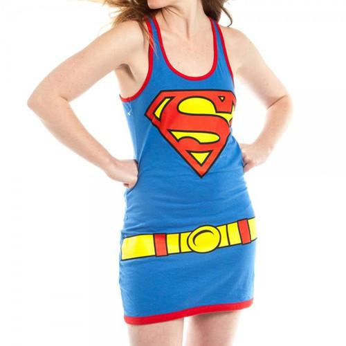 Superman Tank Top Dress Girls - Supergirl Costume