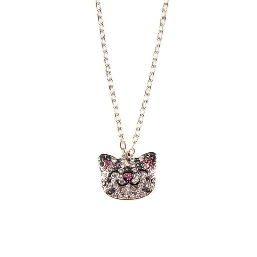 Big Bang Theory Necklace - Crystal Face Soft Kitty Head