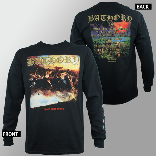 Bathory Long Sleeve Shirt - Blood Fire Death