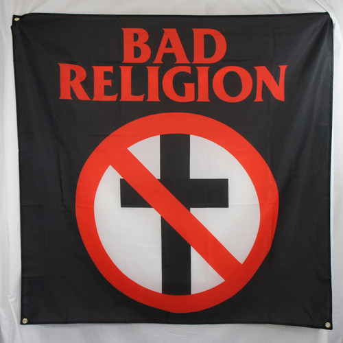 Bad Religion Fabric Poster Flag - Crossbuster Classic Logo