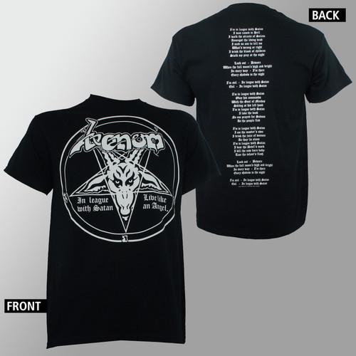 Venom T-Shirt - In League With Satan