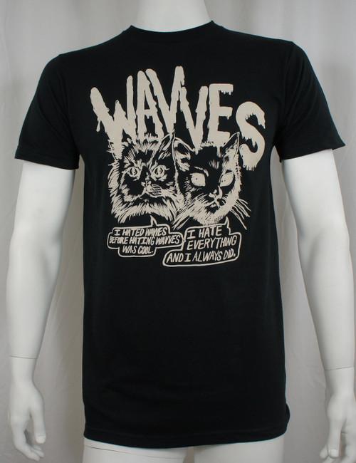Wavves T-Shirt - Cynical Cats Logo