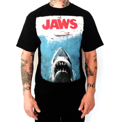 Jaws T-Shirt - Distressed Movie Poster Logo