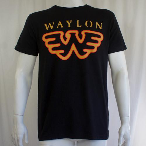 Waylon Jennings T-Shirt - Wings W Logo